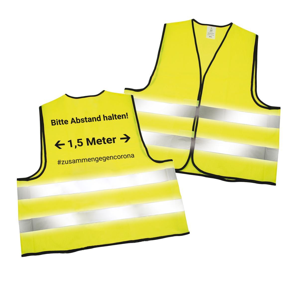 10 Stück Warnweste Unfallwesten Neon Gelb Fluoreszierende Kleidung Warnwesten